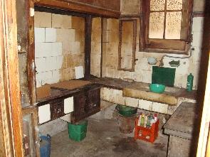 Estado original de la cocina.